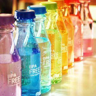 Leak proof plastic bottle portable soda bottle sports water seal cup