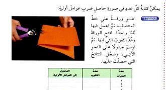 الرياضيات سادس إبتدائي الفصل الدراسي الأول Boarding Pass