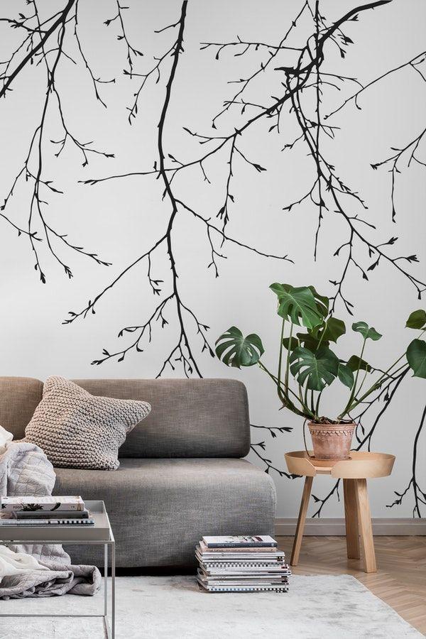 Tree Design Wallpaper Living Room: Tree Wall Murals, Wall Murals, Wall