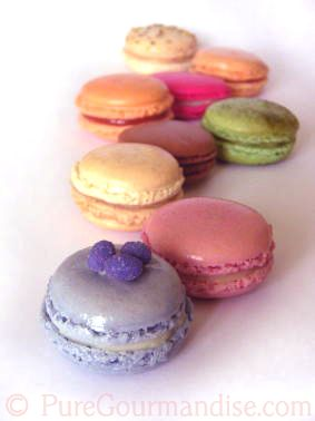 Macaron flavours galore! Liquorice, lychee and rose, candy floss...