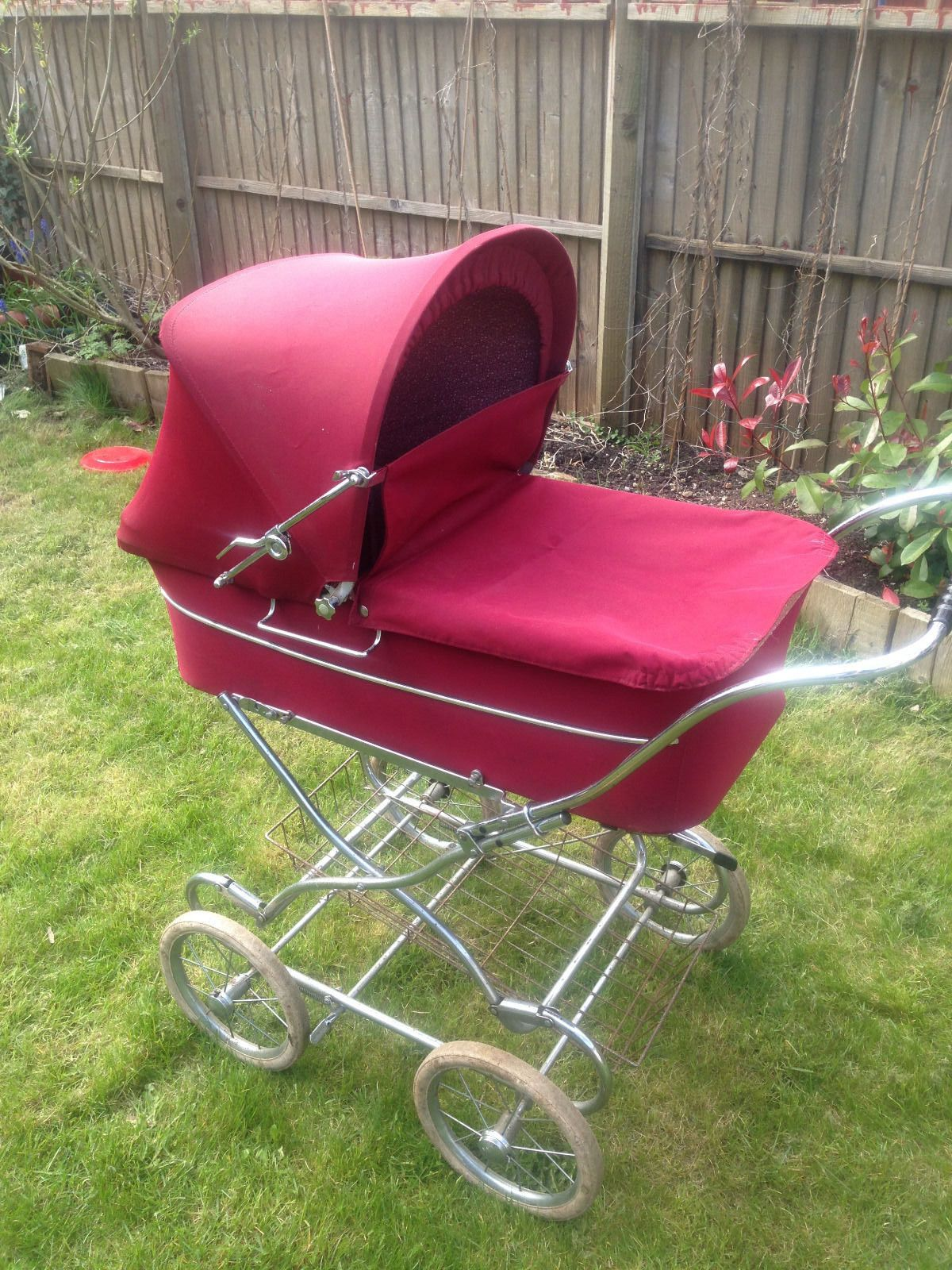Silver Cross Pushchairs On Ebay Red Vintage Silver Cross Pram Retro Buggy Ebay Baby