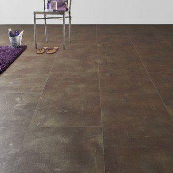 Dalle PVC clipsable cuivre copper métal Clic moods ARTENS Leroy - dalle de sol chambre