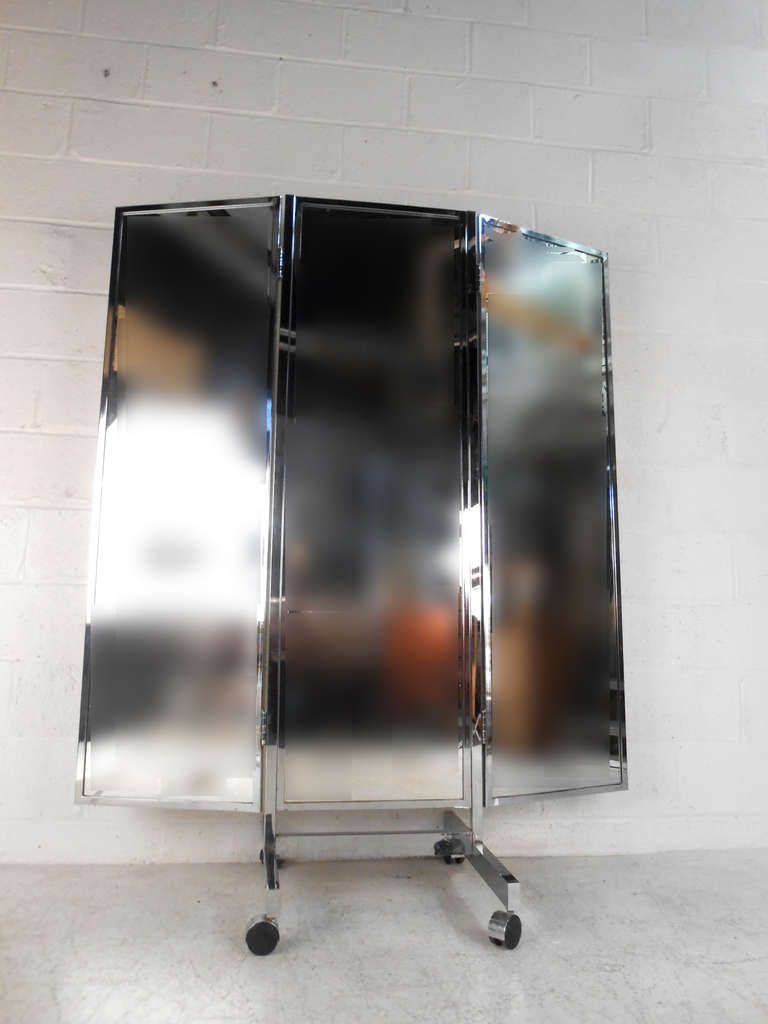 Vintage Mid-Century Modern Three-Panel Dressing Mirror | Dressing ...