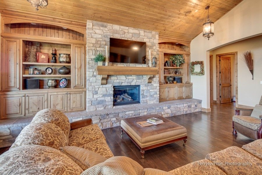 Luxury Great Room Living Room Family Room With Fire Place
