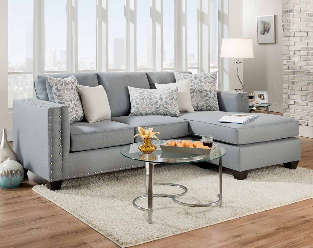 Mode Gray 2 Pc Sectional Sofa Sectionals Living Rooms American Freight Grey Sectional Sofa Living Room Sectional Sofas Living Room Living Room Designs