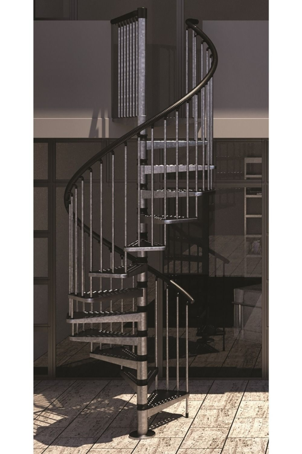 Best Basic Spiral Staircase Kit For External Use With 400 x 300