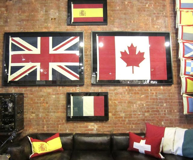 Decorating with Vintage Flags