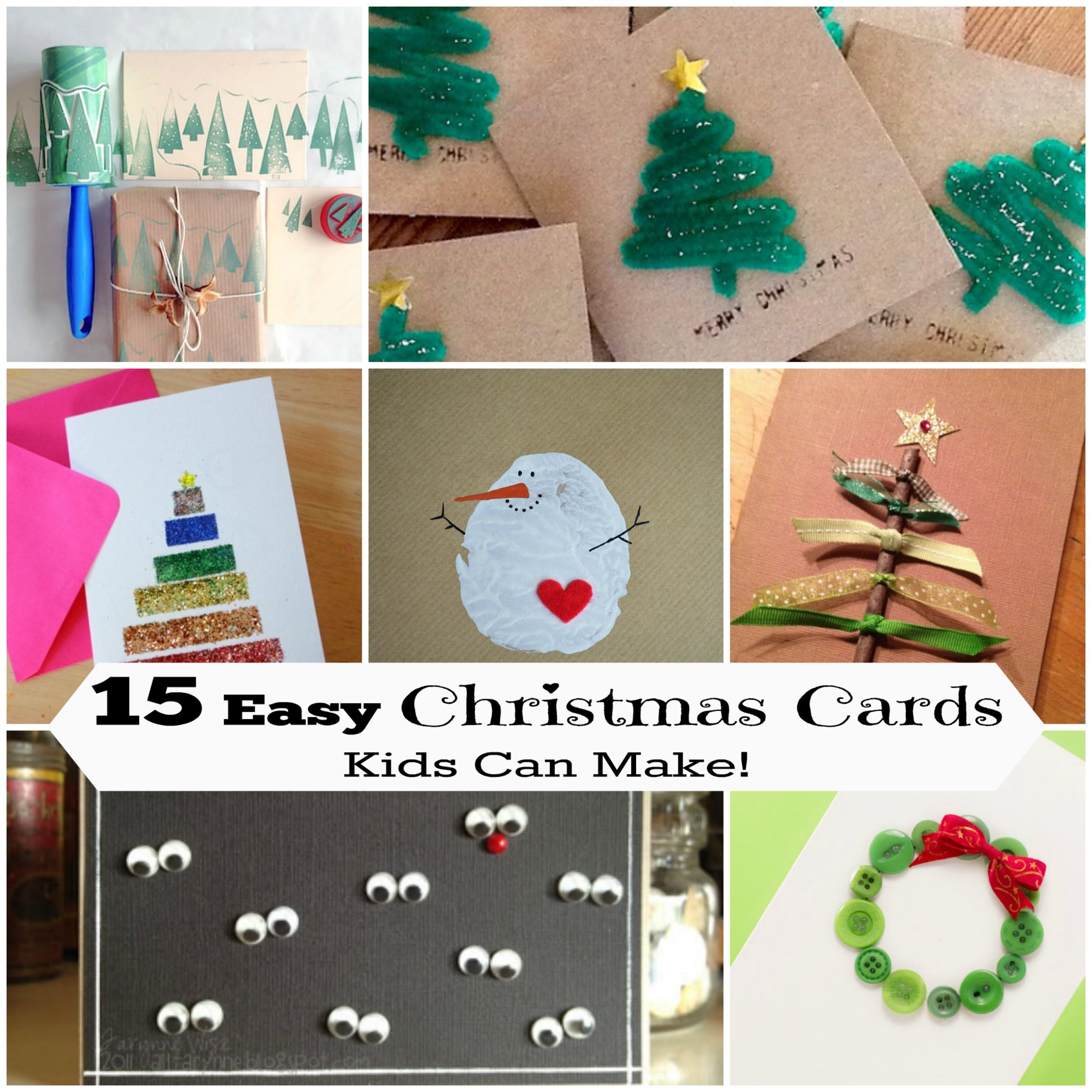 Homemade Christmas Card Ideas For Kids To Make Part - 42: 15 DIY Christmas Cards Kids Can Make