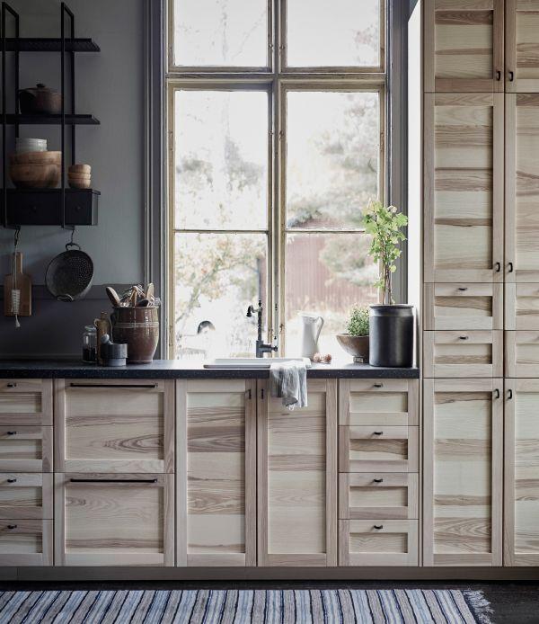 nouvelle cuisine ikea torhamn cuisine avec portes et. Black Bedroom Furniture Sets. Home Design Ideas