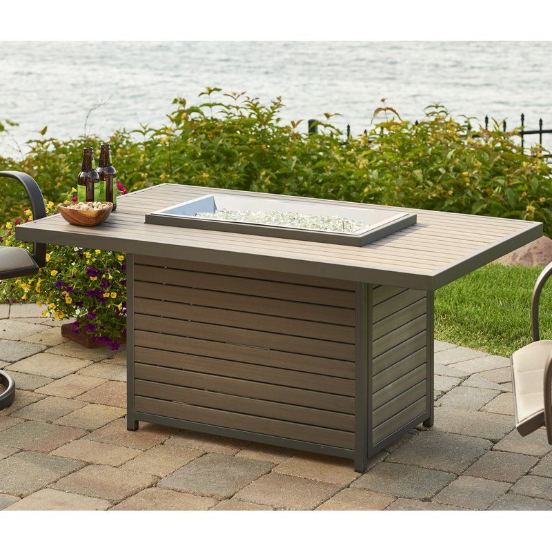 Brooks Fire Pit Table By Gracie Oaks Propane Fire Pit Table Fire Pit Table Gas Fire Pits Outdoor