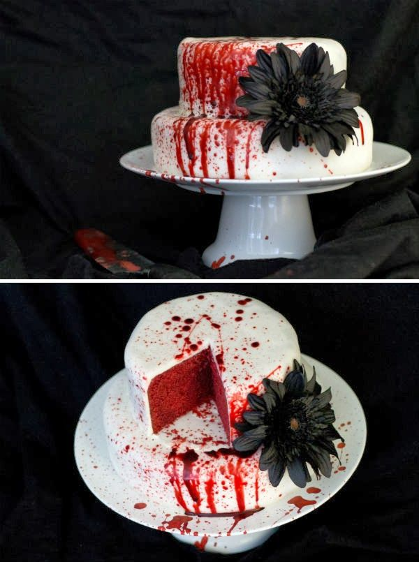 How To Make A Bloody Birthday Cake Prop