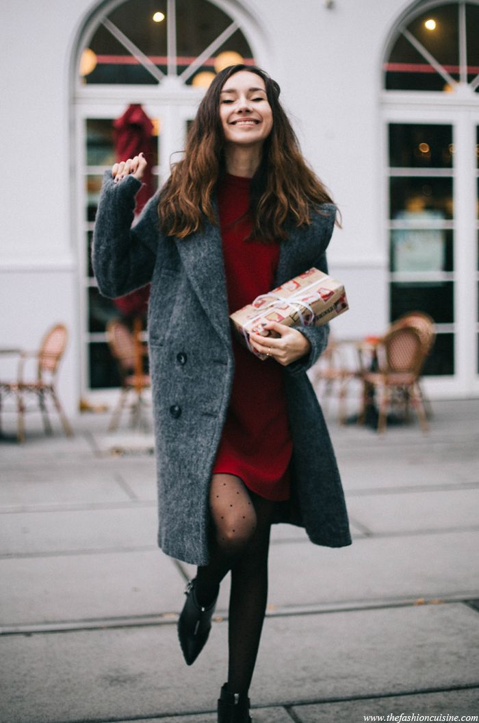 Good Cute Christmas Party Outfit Ideas Part - 1: Cute Christmas Party Outfit Idea Featuring Red Dress