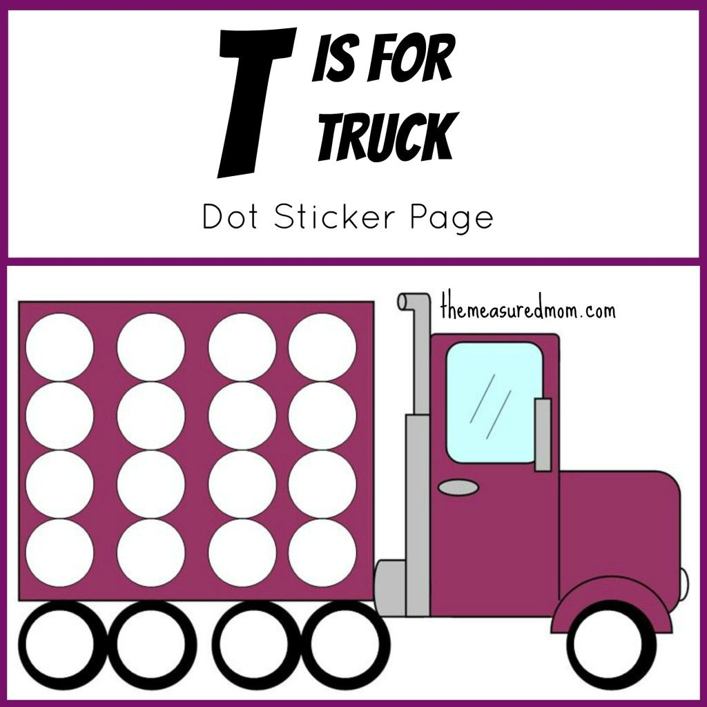 Free Letter T Printable T Is For Truck