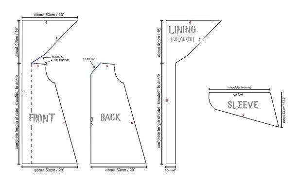 Harry Potter Robe Sewing Pattern... For @rachelrichardson @KD ...