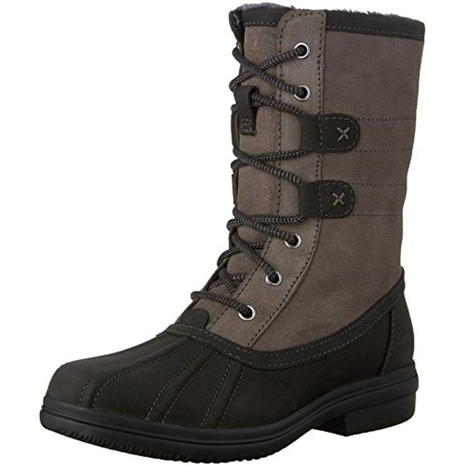 Clarks Womens Tavoy Juniper Black Leather Combo Boot 6 - Great boot,  stylish and comfotable. Only negative is they bunch up at the ankle area,  ...