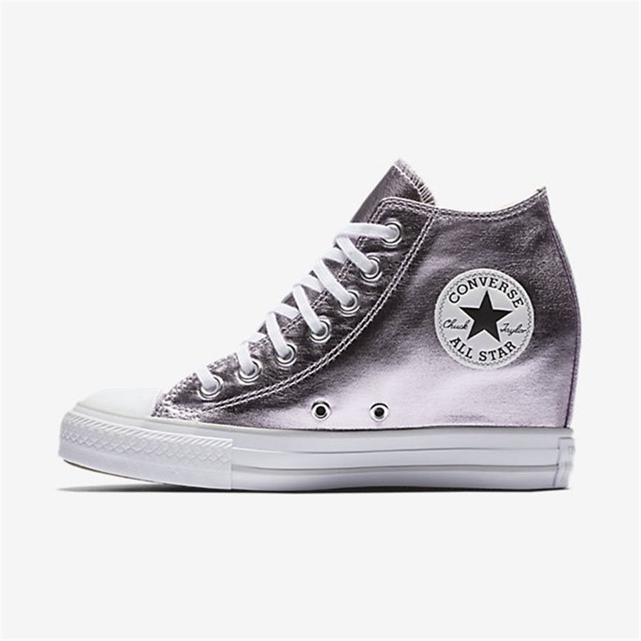23fd47144805 NIKE Converse Chuck Taylor All Star Lux Metallic Mid Top (Purple ...