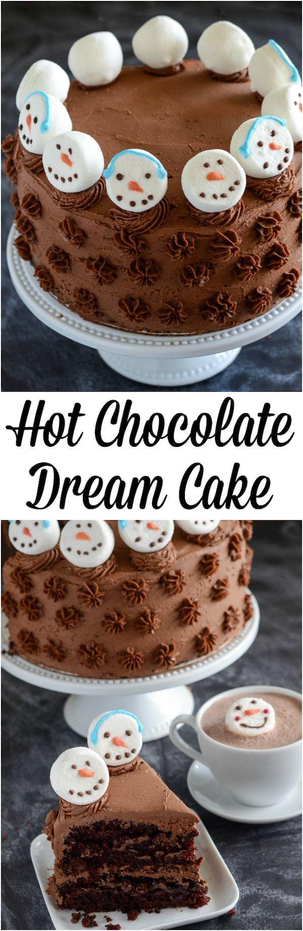 Hot Chocolate Dream Cake You Ve Gotta Make This Cake