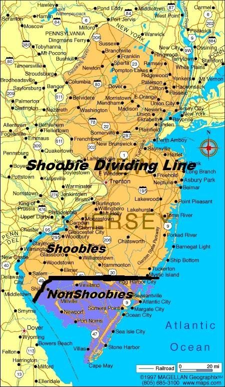 Shoobie Dividing Line Map LMBO Pinterest Jersey Girl And Nj - Maps of nj