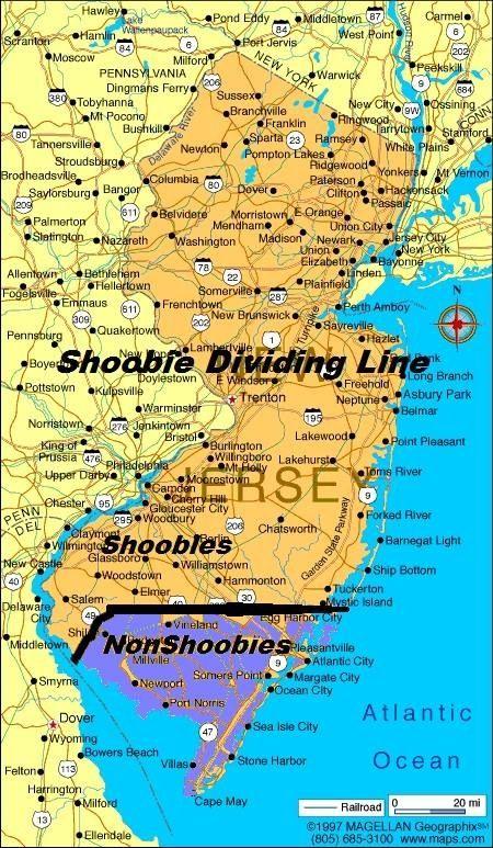Shoobie dividing line map LMBO Pinterest Jersey girl Nj