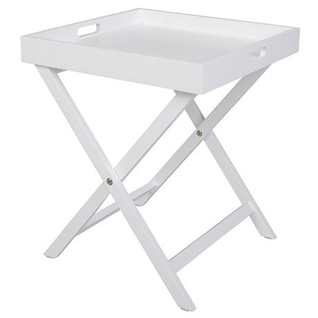 Dante Butler Tray Table 40x40cm White