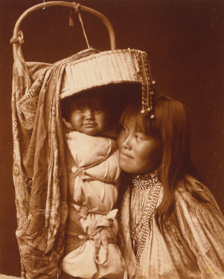 Apache woman with papoose