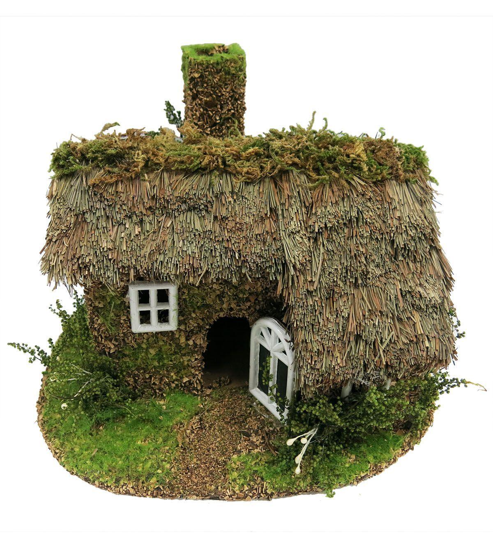 Fairy Garden Grass And Moss Roof House Fairy Houses