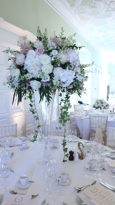 Tall Fluted Vases Vasesdecorideas Flower Centerpieces Wedding