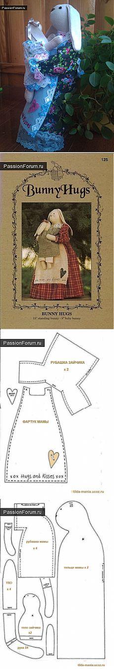 тильды | Dolls Crafts | Pinterest | Conejo, Primavera y Patrones
