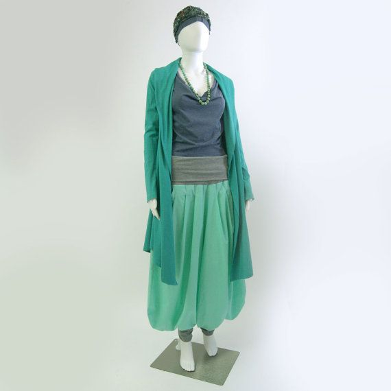 türkiser Jerseymantel ethical clothing von philosophiadesign