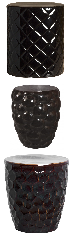 Black Garden Stool | Black Ceramic Stools | Black Porcelain Stool | Black  Ceramic Stool |