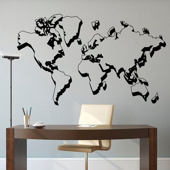 World map wall decal world map decal world map wall mural world world map wall decal world map decal world map wall mural world map gumiabroncs Image collections