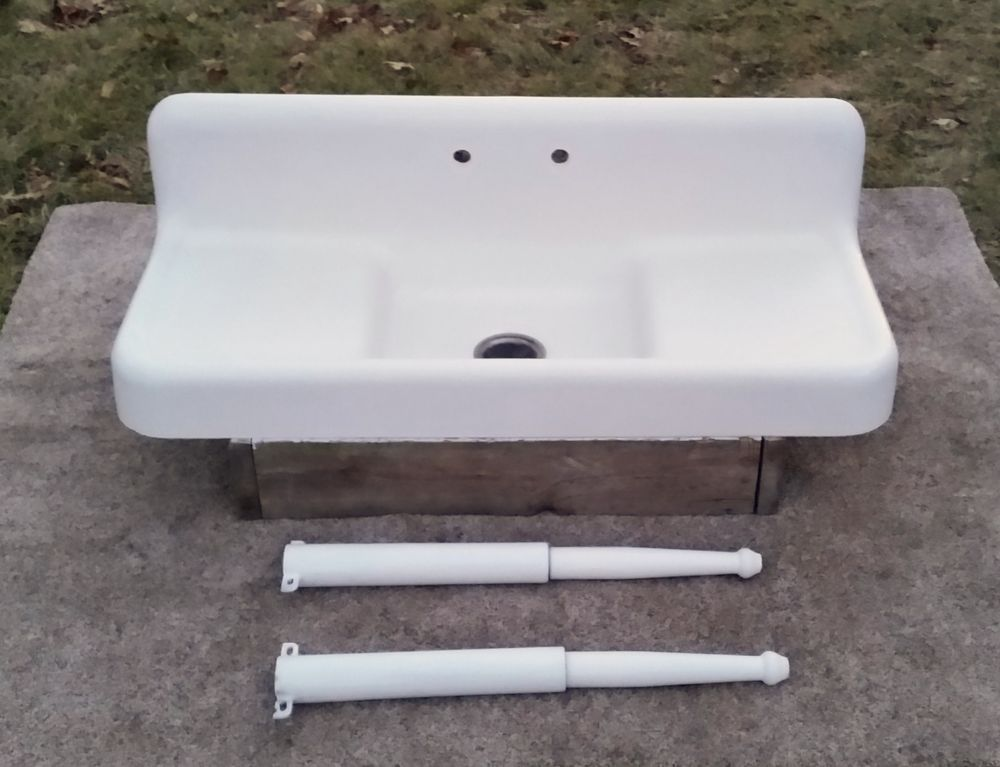 Original Porcelain Cast Iron Farm Sink-Industrial drain,High Back ...