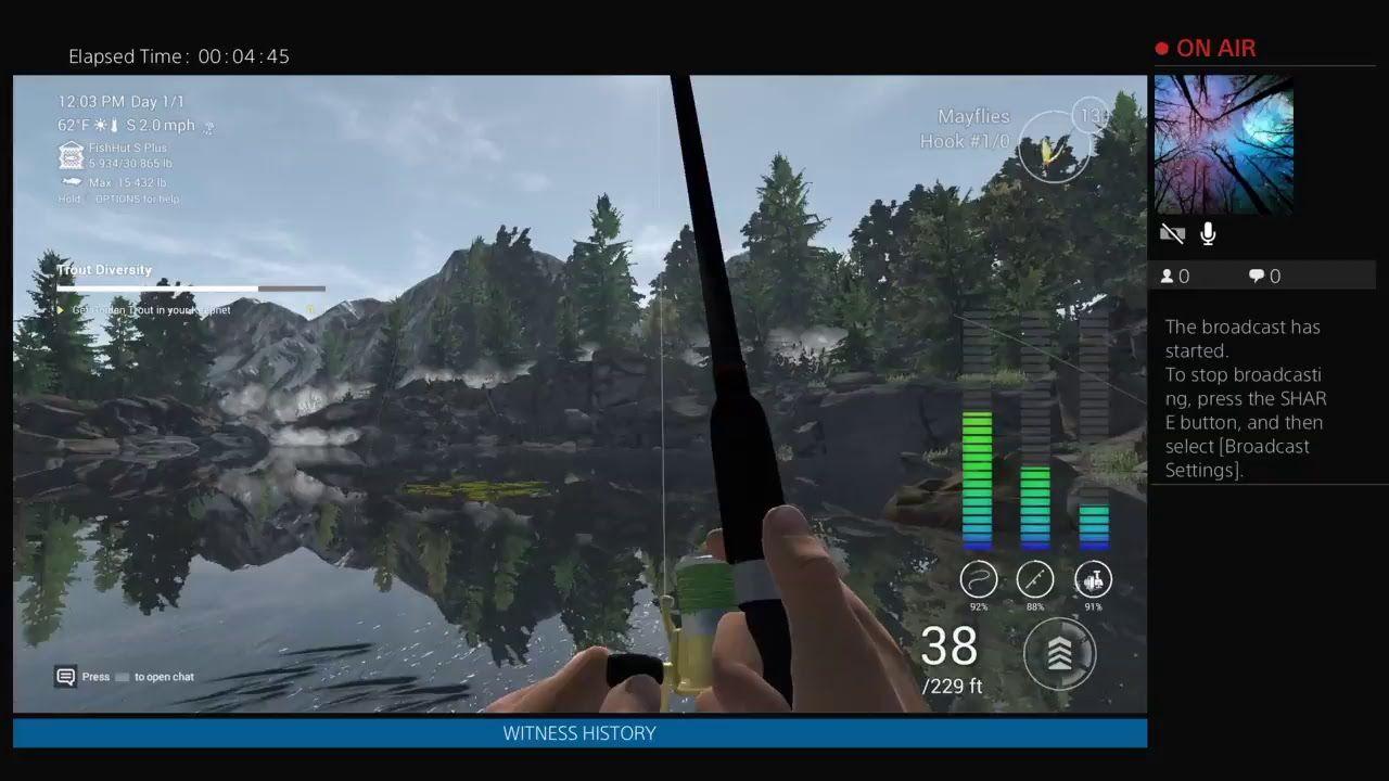 PS4 Fishing broadcast! MiiON + Tricks & Tips