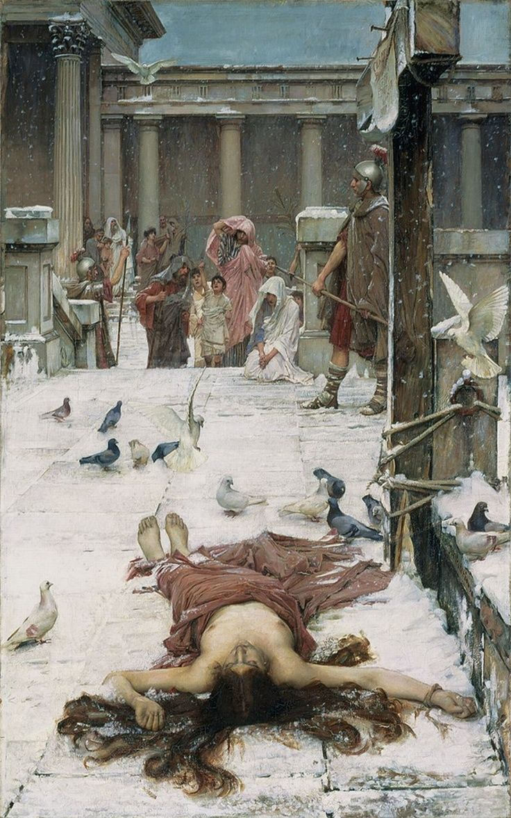 Saint Eulalia, 1885 , by John William Waterhouse ( English