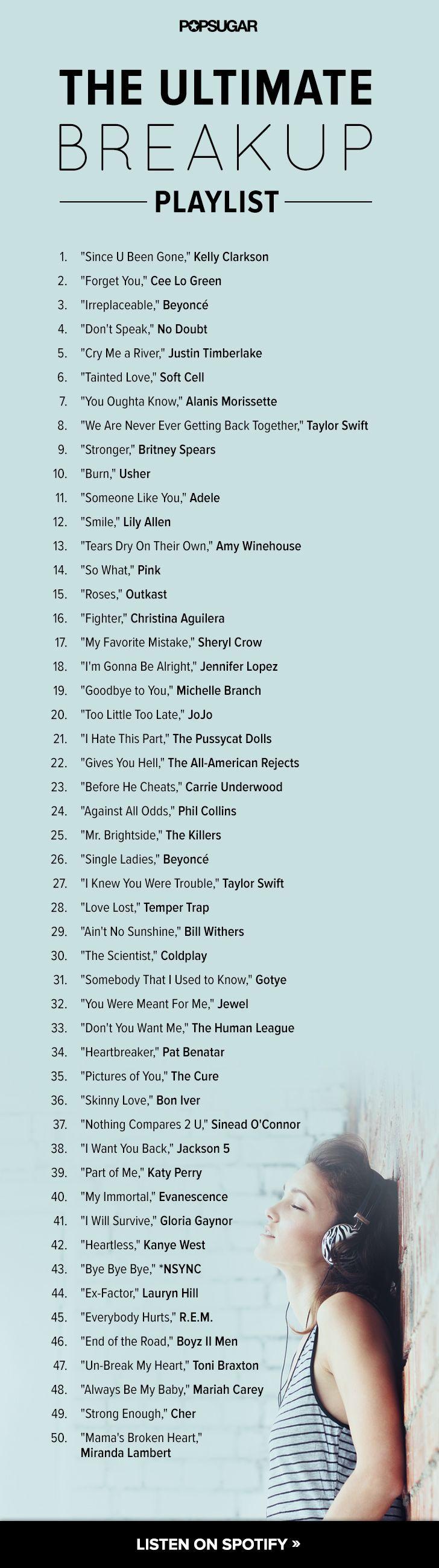 Songs for break ups