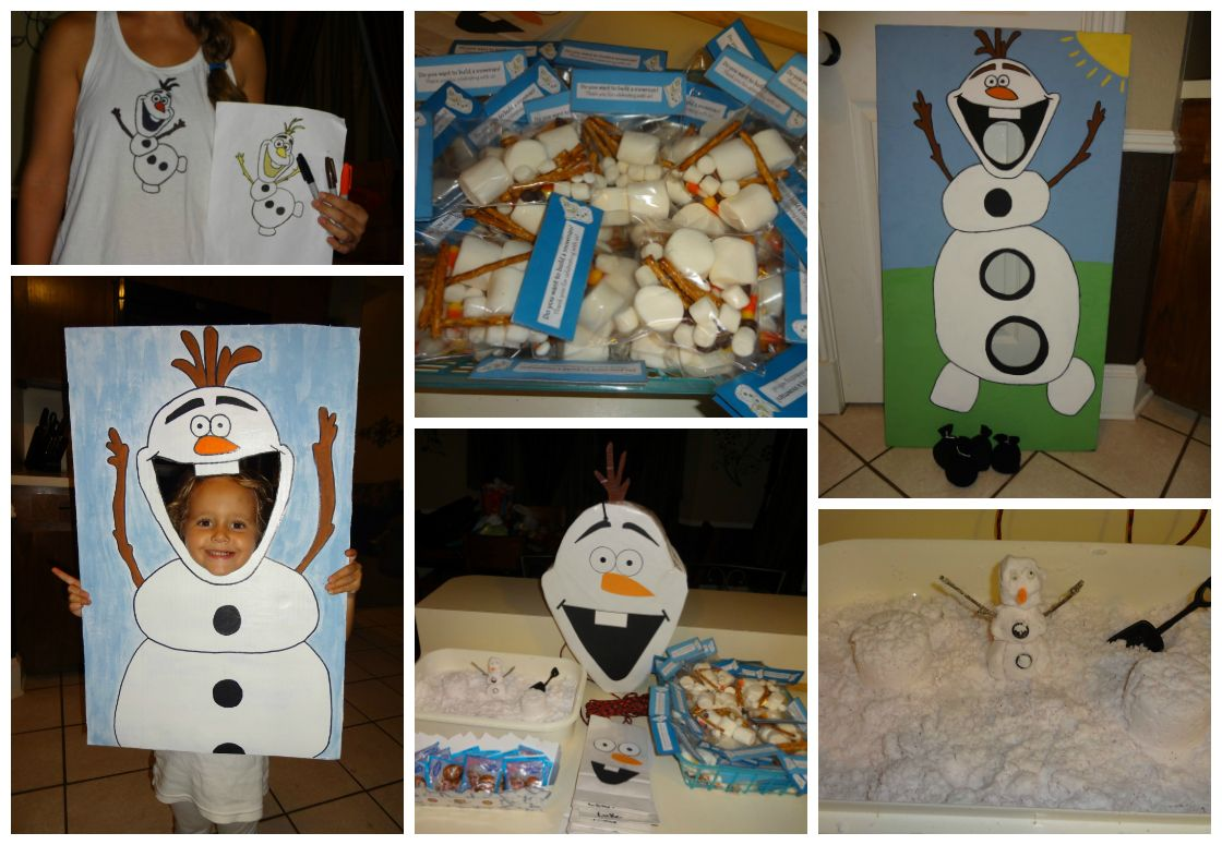 Enjoyable Our Little Homemade Frozen Party Cardboard Box Olaf Machost Co Dining Chair Design Ideas Machostcouk