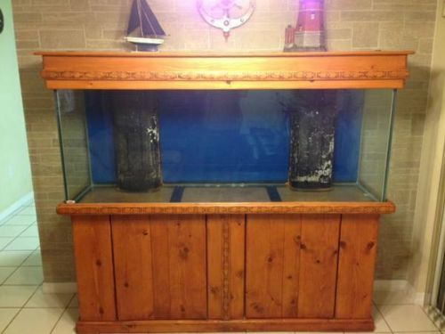 150 Gallon Aquarium Salt Water Fish Tank Reef Ready With Stand Canopy Salt Water Fish Fish Tank Fish Tank Stand