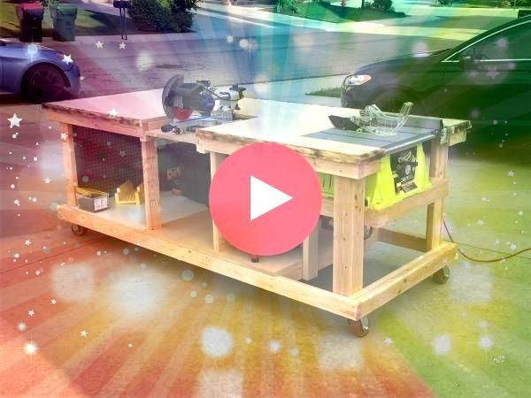 Mobile Work Bench Mobile Work Bench I built a Flip Top Tool Stand with some upgrades to get better tool storage in my shop You can store two tools in one footprint and sa...