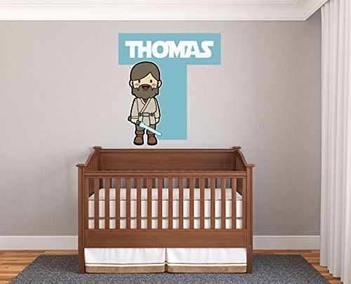 Custom name personalize colors baby animation obi wan kenobi star wars wall decal vinyl sticker art 30x33big be sure to check out this a
