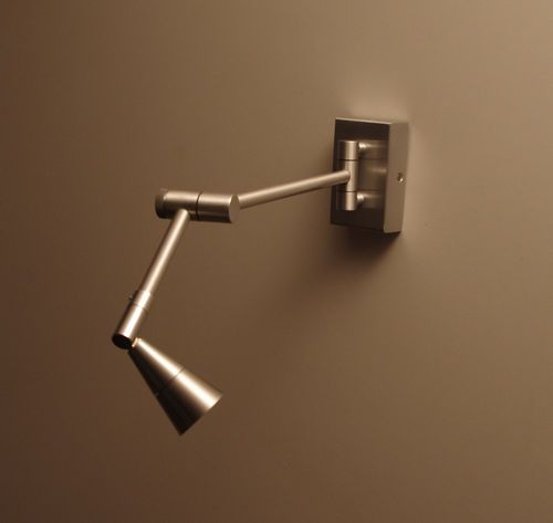 Contemporary Wall Light Metal Not Specified Swing Arm