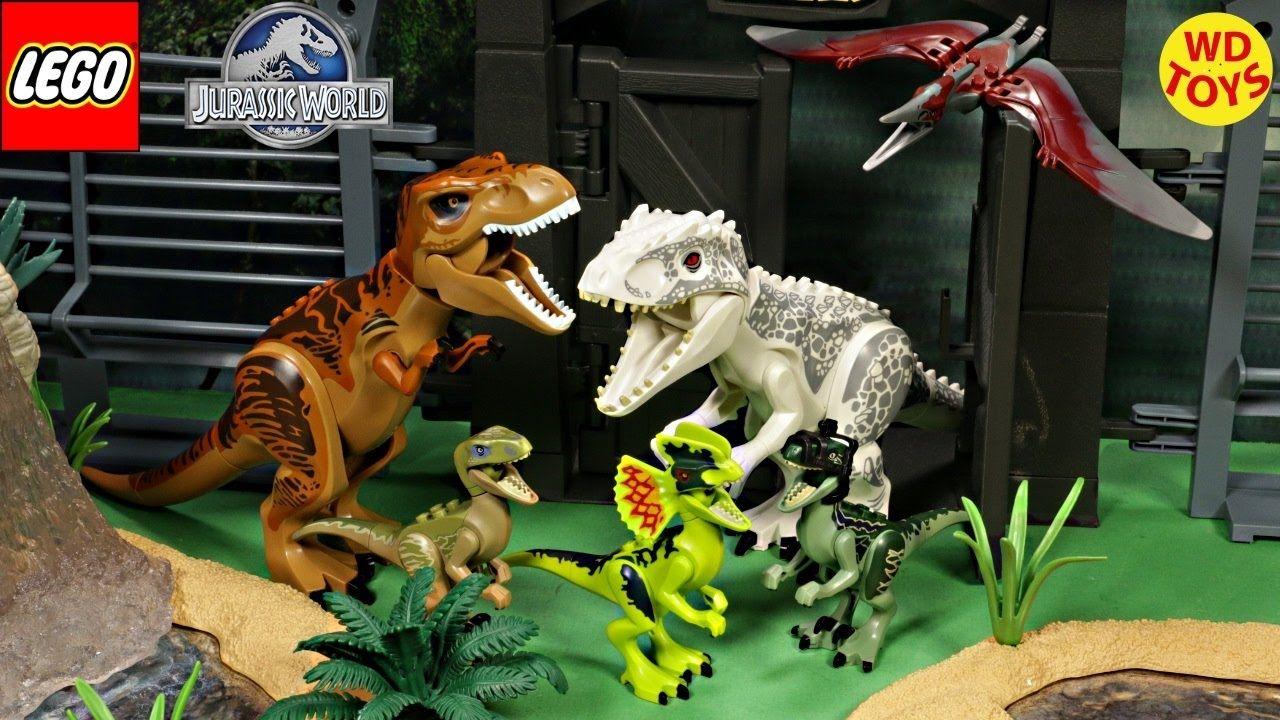 New Lego Jurassic World Dinosaurs Complete Set Indominus Rex Trex Di Lego Jurassic World Lego Jurassic World Dinosaurs Jurassic World
