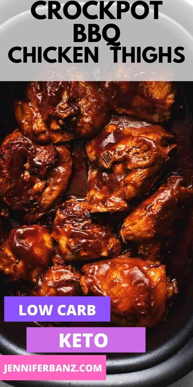 Crock Pot Bbq Chicken Thighs In 2020 Chicken Thigh Recipes Crockpot Bbq Chicken Thighs Slow Cooker Chicken Thighs
