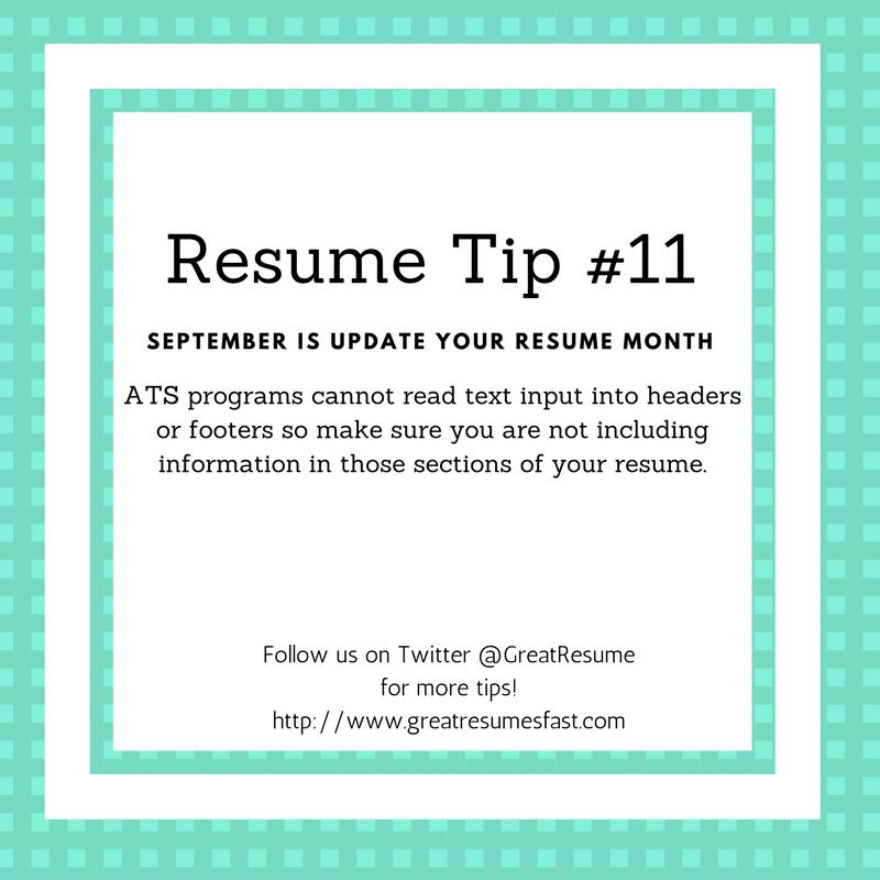 resume writing tips for september update your resume month resume tip 11 resume