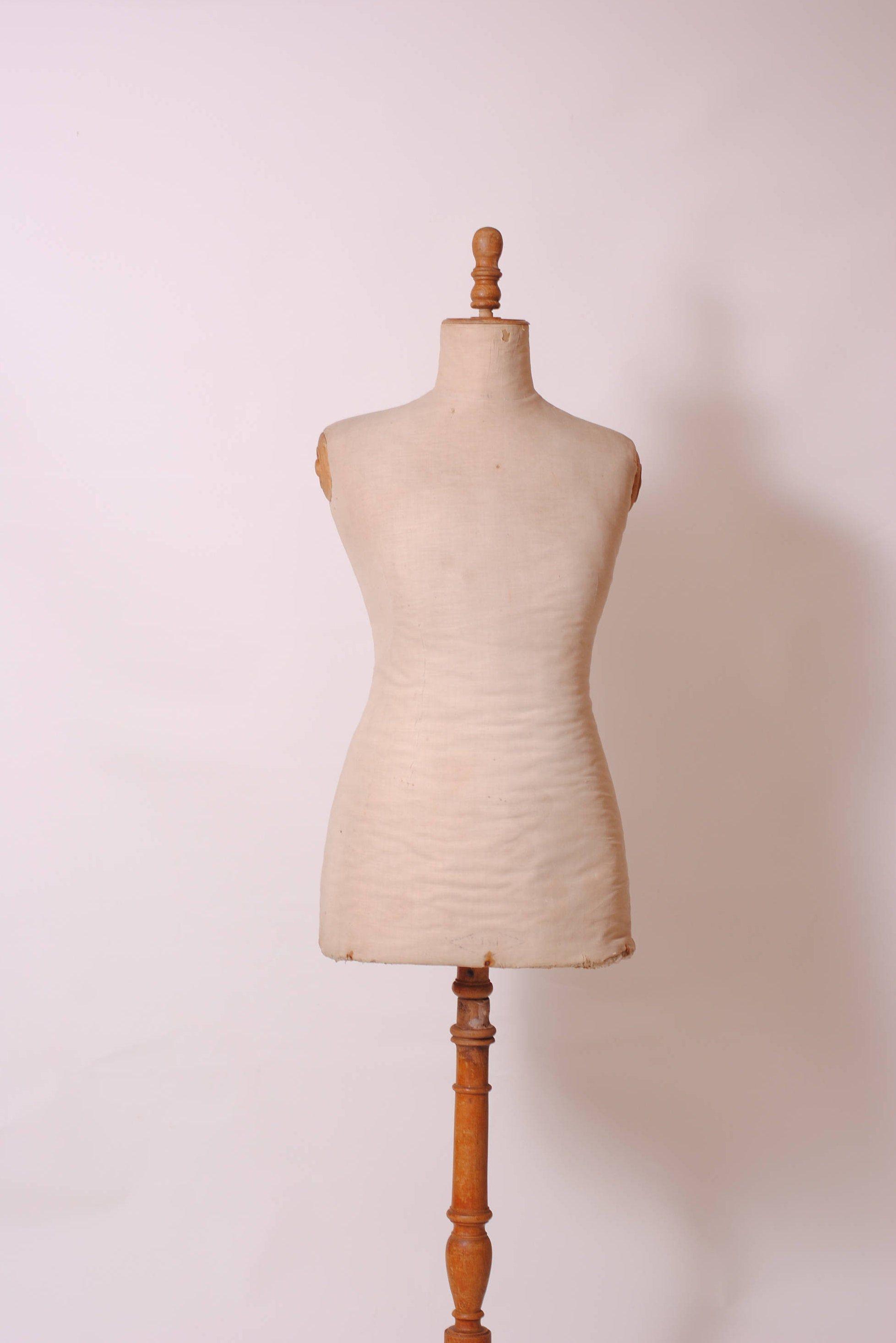 Buste Sur Pied Decoratif français manequin de couture, buste de couturière ,portant
