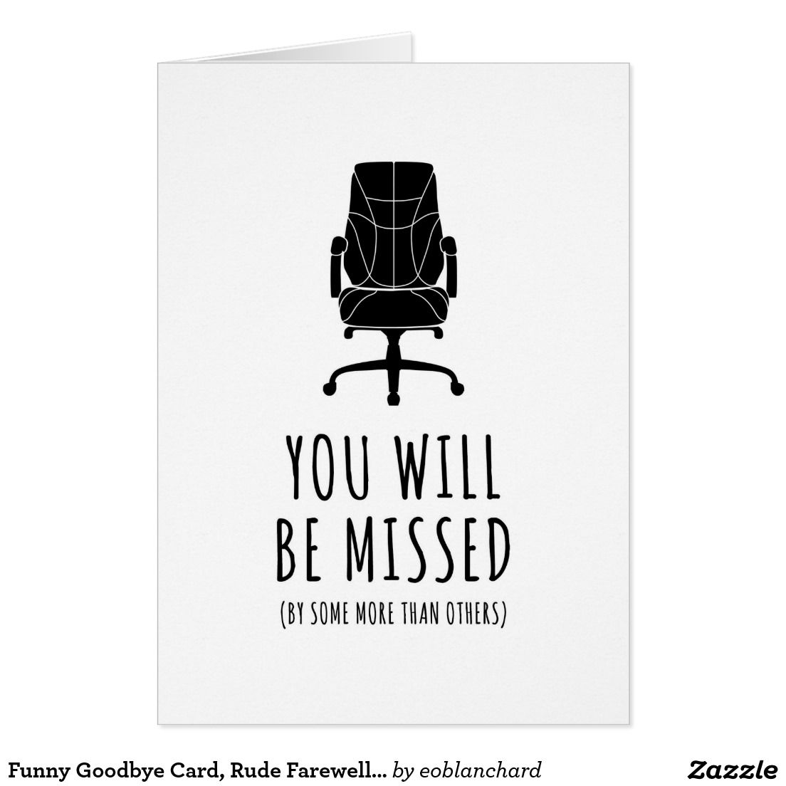 Funny Goodbye Card, Rude Farewell Card, Funny Card | Zazzle.com