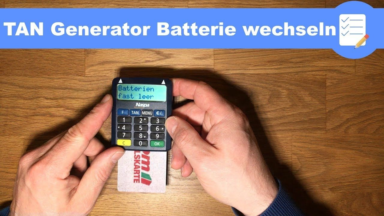 Tan Generator Sparkasse Batterie