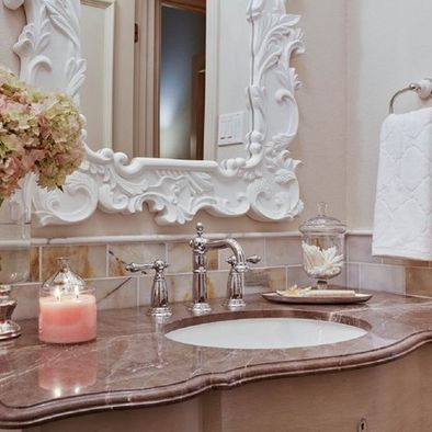 Vintage Glam Bathroom I Absolutely Love This Look Glam