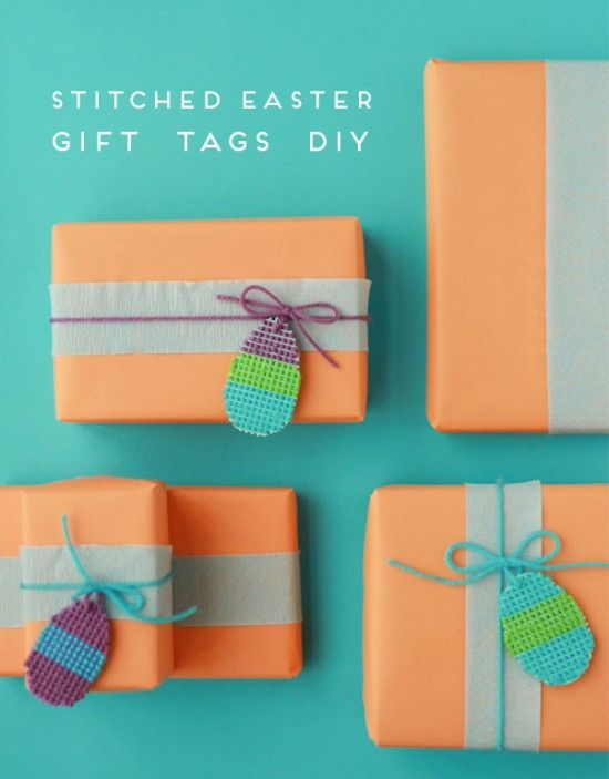 Stitched easter gift tags would work for any occasion just change stitched easter gift tags would work for any occasion just change the shape negle Choice Image