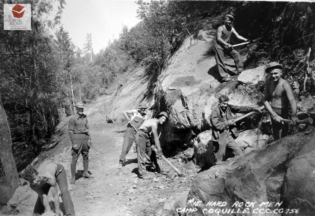 Camp Coquille Oregon Civilian Conservation Corps photo
