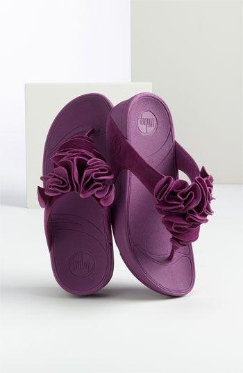 Flipflop-Flower flipflop-Flip flops-Thongs-Sandals-Flower flip flops-flower-pink flower